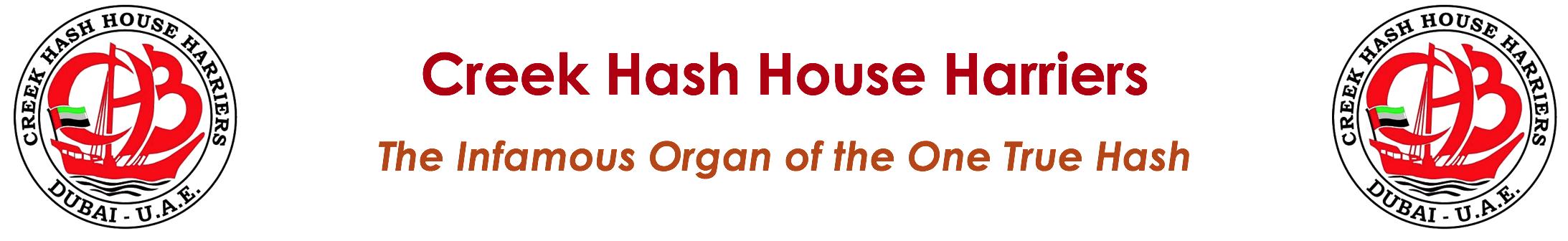 Creek Hash House Harriers (CH3) Logo